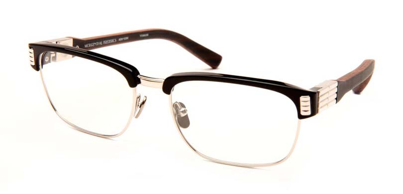 CHARLIE::Morgenthal Frederics Royals Collection.<br />Titanium and acetate frame handcrafted in Japan with wood temples handcrafted in Germany.