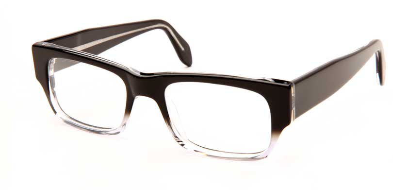 MATT::Morgenthal Frederics Acetate Classic Collection.<br />Handcrafted in France, black to crystal fade.