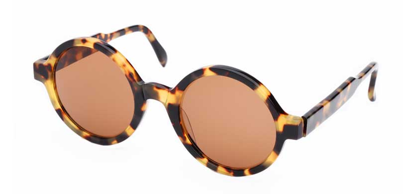 WEBSTER::Morgenthal Frederics Acetate Classic Collection.<br />Handcrafted in France, oversized round tortoise frame.